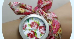 Blue-pink Flowers Fashion Bohemia Woman Watch