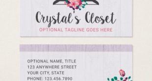Boho Floral Clothes Hanger Closet Fashion Boutique Business Card | Zazzle.com