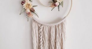 Boho Wallhanging Boho Dreamcatcher Dried Flowers Floral