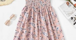 Shop Floral Print Pleated Cami Dress online. ROMWE offers Floral Print Pleated C...