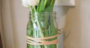 Frühlingsblumen - einfaches aber schönes Blumenarrangement Einmachglas weiße ...