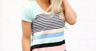 Sweet Sorbet Striped Tee – The Obsessions Boutique An online and ad...