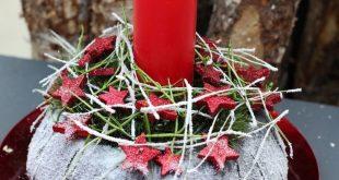 Weihnachtliche Gesteck-Ideen (mehr sehen)