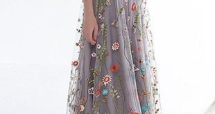 Women's Zipper Back Floral Embroidery ,Long Sleeves Evening Dresses,Custom Made,Floor Length ,2018 New Fashion from Fantasy Club528
