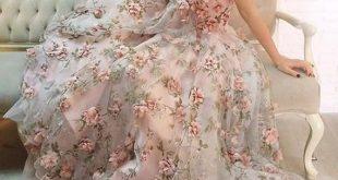 1 Yard Spitze Stoff Elfenbein Organza 3D rosa Chiffon Rose Blumen Stickerei Hochzeit Kleid 47 Zoll breite
