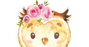 Girls Woodland Nursery Prints Set of 10, Pink Floral Woodland Animal Prints, Floral Woodland Theme Nursery, Girls Animal Nursery Decor