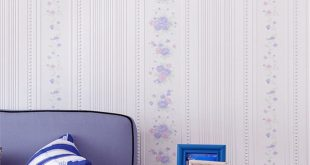 Beibehang Personality non-woven romantic bedroom living room pastoral stereo vertical striped floral wallpaper