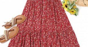 Bis zu 80% RABATT! Winzige Blumen High Low Kleid. #Zaful #Dress Zaful, zaful Out...