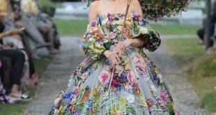 Enchanting floral ballgown