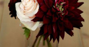 - Plum Burgundy Dahlia Centerpiece