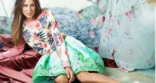 Sarah Jessica Parker floral fashion shoot editorial inspiration