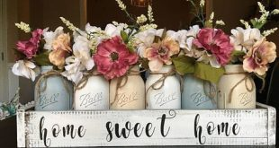 home sweet home mason jar centerpiece mason jar planter box