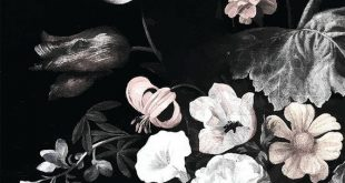 Stillleben Floral Wandbild - dunkle Floral Wandbild | Floral Wallpaper