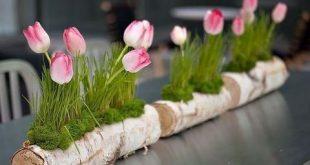 20 Frühling Tischdeko Ideen mit Blumen - Tischdeko Frühling selber machen