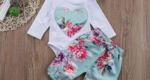 3pcs Newborn Kid Baby Girl Floral Clothes Jumpsuit Romper Bodysuit Pants Outfits 3pcs Newborn Kid Baby Girl Floral Clothes Jumpsuit Romper Bodysuit Pants Outfits