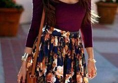 @roressclothes clothing ideas #women fashion white striped top floral skirt - #Clothing #Fashion #Floral #Ideas #roressclothes #skirt #striped #top #white #Women
