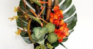 Artificial Flower Arrangements Tropical Orchids, How to Arrange Artificial Flowe...