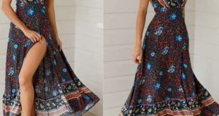 BOHO WRAP DRESS This is a boho chic wrap dress in floral design, flutter sleeve,...