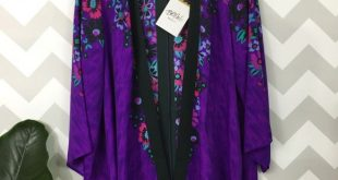 Bob mackie wearable art kimono open cardigan New with tags Works great as a lay...