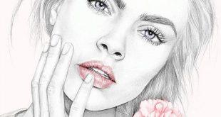 Cara Delevigne floral fashion / portrait illustration