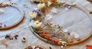 DIY Dekoration: eine florale Trommel machen