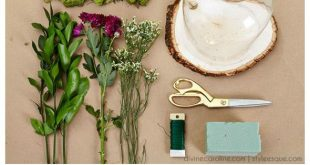 DIY Hochzeit Mittelstücke: Floral Cloche