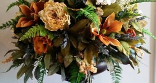 Extra Large Silk Floral Arrangement Italian Tuscan Old World Decor Dining Room Foyer Entry Wedding Table Centerpiece