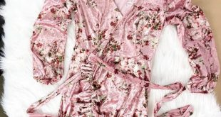 Free People - Fall Crush Wrap Dress - Pink Velvet Free People Fall Crush Wrap D...