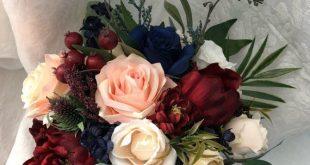 Hochzeitsstrauß Burgund Marineblau Rote Pfingstrose Eukalyptus Hochzeit Maroon P ...