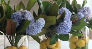 Hydrangea-Blumenschmuck-Hydrangea, Magnolie und Zitrusfrucht