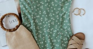 Julita Mint Green Floral Print Mini Dress - #Dress #essentials #Floral #Green #J...