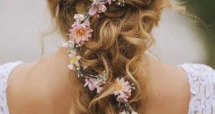 Kranz-Blumenhaar-Kronen-Blumen-Rosa-Rosen-Brautkranz-Blumen-Haar