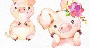 Mutter und Baby. Aquarell Tiere Clipart, Fuchs, Bär, Schwan, Grußkarte, Muttertag, laden, Blumen, Kranz, diy, Karte, Himbeere, Babyshower