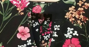 Urban Romantics M Black Floral Ruffle Sleeve Top Sophisticated Boho Chic Double ...