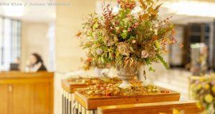 Zita Elze Flowers RHS Urban Garden Show 2018 urn full of flowers / large floral ...