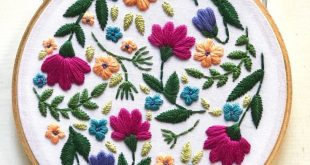 digital hand embroidery pattern | floral design | digital PDF download | embroidery pdf | embroidery pattern