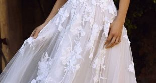 fashion forward wedding dresses a line off the shoulder floral lace blush madi lane