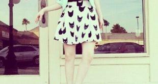 love her black cat design skirt