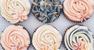 super süße florale Muffins - #BabyKuchen