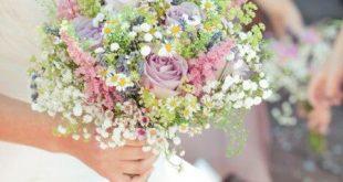 wunderschöner Brautstrauß, weiss, Feld- und Wiesenstrauss, Hochzeit, Blumenstr